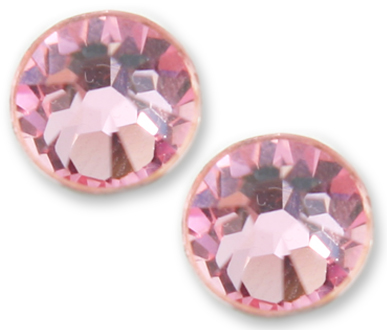 2058 SS40. Light Rose Glue on Stone Pack Qty 24pcs