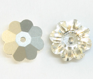3700 10mm Crystal Foil Flower Spacer Pack Qty 18