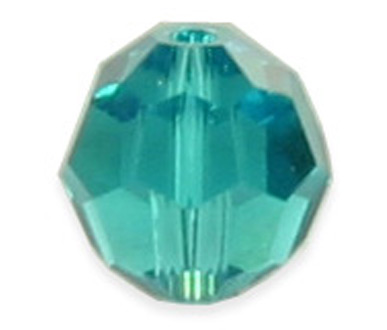 5000 8mm Blue Zircon Round Bead PQ 12