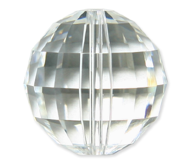 5005 8mm Crystal Mass Facet Bead PQ 6