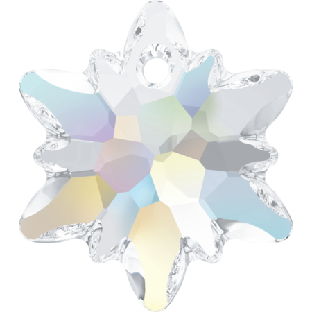 6748 14mm Crystal AB Edelweiss Pendant Pack Qty 4