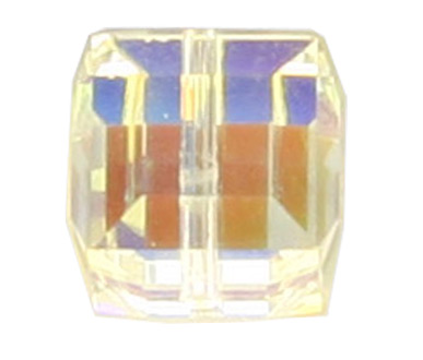 5601 4mm Crystal AB Square Bead PQ 16