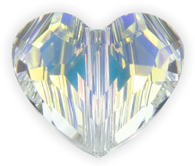 5741 8mm Crystal AB Heart Bead PQ 12
