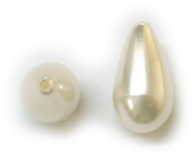 J5806 18x10mm Japanese White Pearl Drop PQ 6