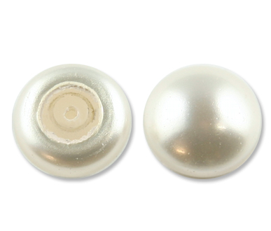 5817 6mm White Half Pearl Factory Pack 250 pcs