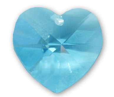 6228 10mm Aqua Heart Pack Qty 12