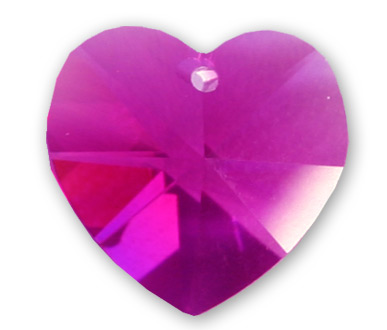 6228 10mm Fushia Heart Pack Qty 12