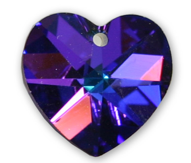 6228 10mm Heliotrope Heart Pack Qty 12