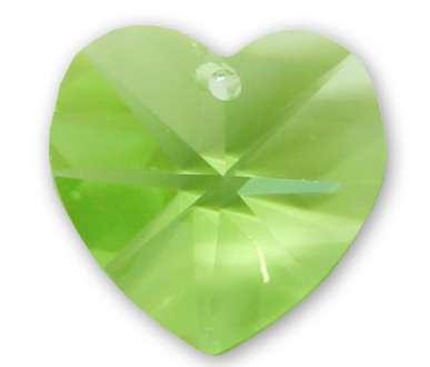 6202 10mm Peridot AB Heart Pack Qty 12