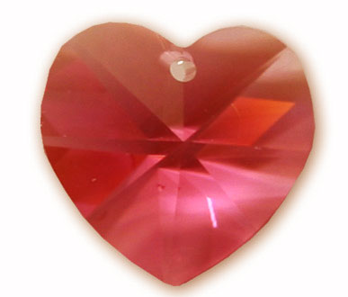 6202 14mm Padparadscha Heart Pack Qty 8