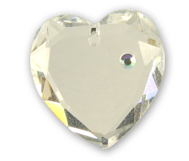 6229 18mm Crystal Diamonte Flat Heart Pack Qty 1