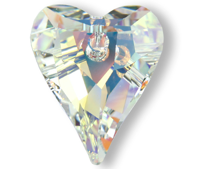 6240 12mm Crystal AB Wild Heart Pack Qty 8