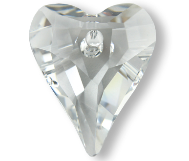 6240 12mm Crystal Wild heart Pack Qty 8