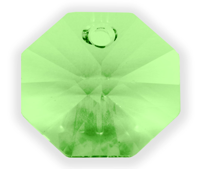 6401 14mm Peridot 1 Hole Octagon Factory Pack of 72