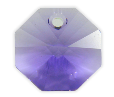 6401 14mm Tanzanite 1 Hole Octagon Pack of 10