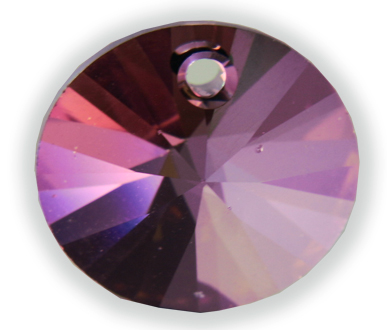 6428 12mm Crystal Lilac Shadow Round Star Pack Qty 10