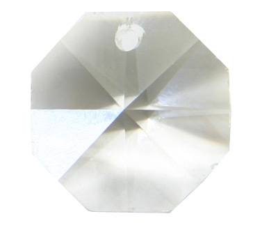 P2571 12mm Crystal 1 Hole Octagon TRAY Qty 180