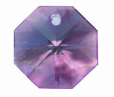 EU8001 14mm Purple AB 1 Hole Octagon Pack of 20