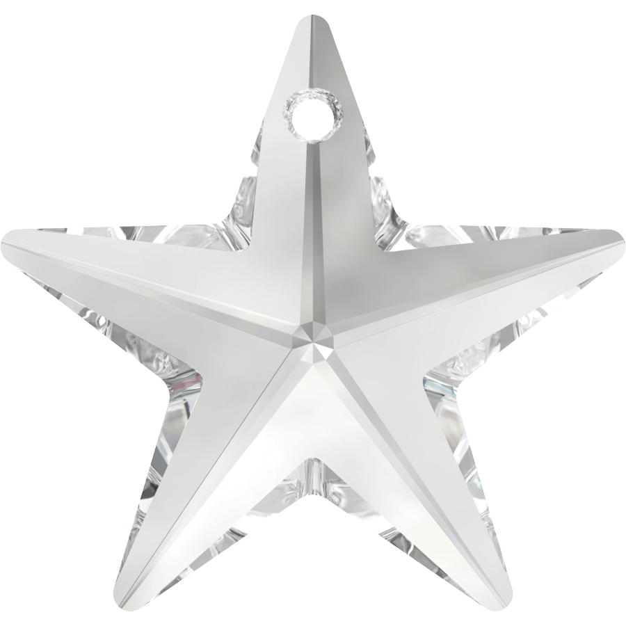 6714 40mm Crystal Star Single Piece
