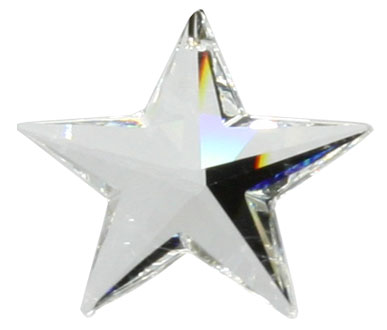 6714 28mm Crystal Star Pack of 2
