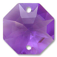 Strass U8116 14mm Blue Violet 2 Hole Octagon Pack of 10