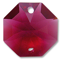 Strass U8116 14mm Bordeaux 2 Hole Octagon Pack of 10