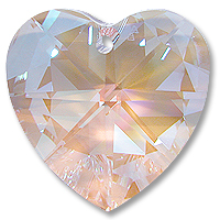 EU870 28mm Crystal AB Heart Pack Qty 4