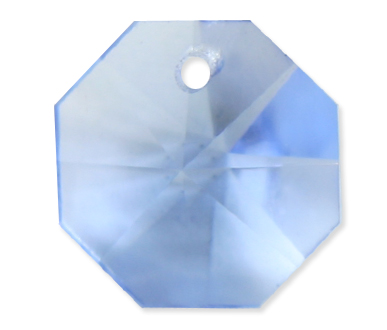 P2571 14mm Light Sapphire 1 Hole Octagon Pack of 20
