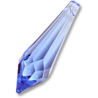 Strass U8611 50mm Med Sapphire Icicle Single Piece