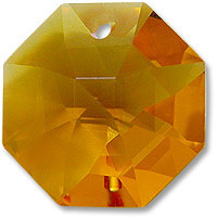 P2571 14mm Topaz 1 Hole Octagon Pack of 20