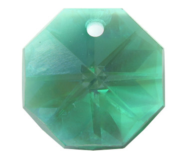 EU8001 14mm Emerald AB 1 Hole Octagon Pack of 20