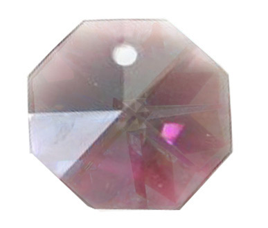 EU8001 14mm Medium Amethyst 1 Hole Octagon Pack of 20