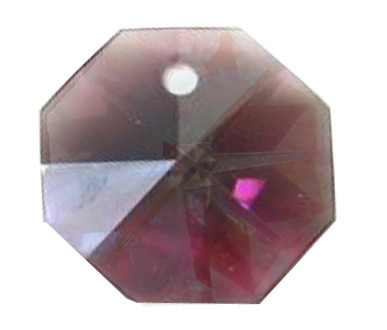 EU8001 14mm Amethyst AB 1 Hole Octagon Pack of 20