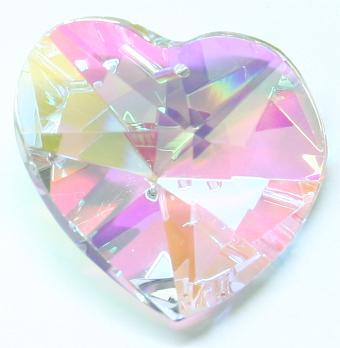 H880 30mm Crystal AB Heart Pack of 3