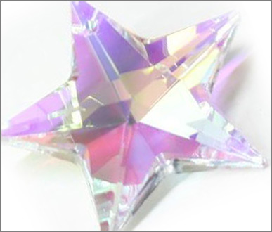 H881 30mm Crystal AB Star Pack of 3