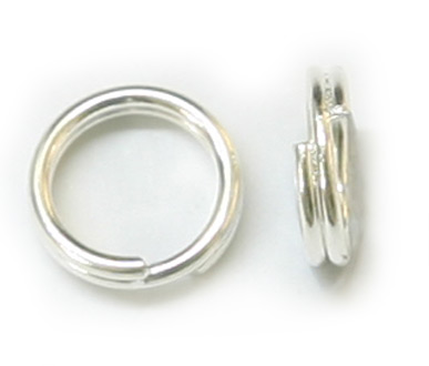 JFSR 6mm Silver Plated Split Ring Pack Qty 144