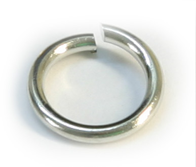 JFJR 5mm Silver Plated Jump Ring Pack Qty 100