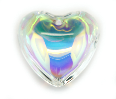 SLHEART45 45mm Crystal AB HEART Pack of 5